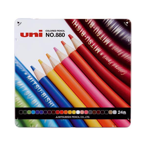 文房具・事務用品 筆記具 関連 (まとめ)三菱鉛筆 色鉛筆880 K88024CPN 24色セット【×30セット】