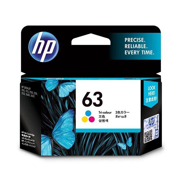 パソコン・周辺機器 PCサプライ・消耗品 インクカートリッジ 関連 (まとめ)HP63 インクカートリッジカラー F6U61AA 1個 【×3セット】