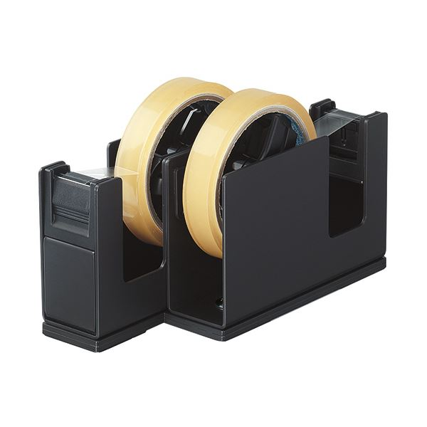 文房具・事務用品 はさみ・裁断用品 はさみ 関連 (まとめ買い) テープカッターカルカット(2連タイプ) 黒 T-SM110D 1台 【×2セット】
