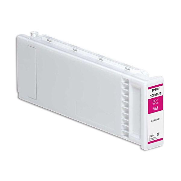 パソコン・周辺機器 PCサプライ・消耗品 インクカートリッジ 関連 インクカートリッジビビッドマゼンタ 700ml SC8VM70 1個