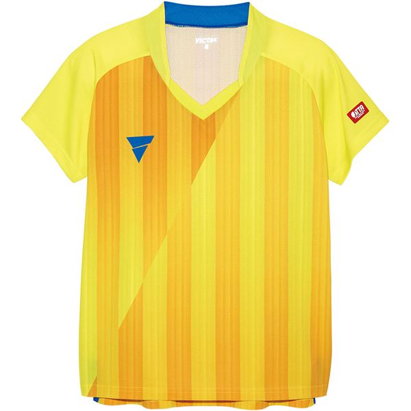 スポーツ・アウトドア 卓球 関連 V‐LS054 レディース ゲームシャツ 31468 イエロー XL