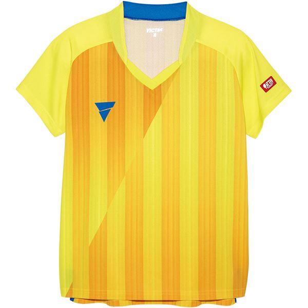 卓球用品関連 VICTAS(ヴィクタス) VICTAS V‐LS054 レディース ゲームシャツ 31468 イエロー XS