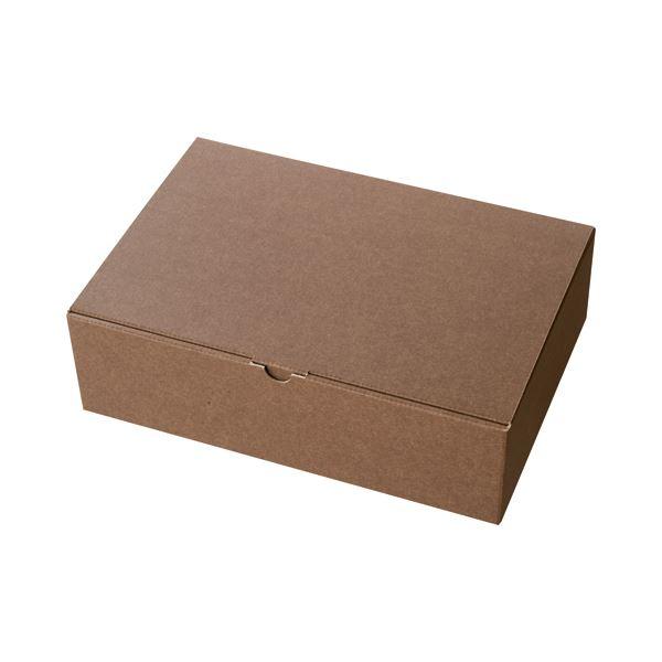 生活 雑貨 通販 (まとめ) ヘッズ 無地ブラウンギフトボックス W323×D225×H95mm MBR-GB1 1パック(10枚) 【×5セット】