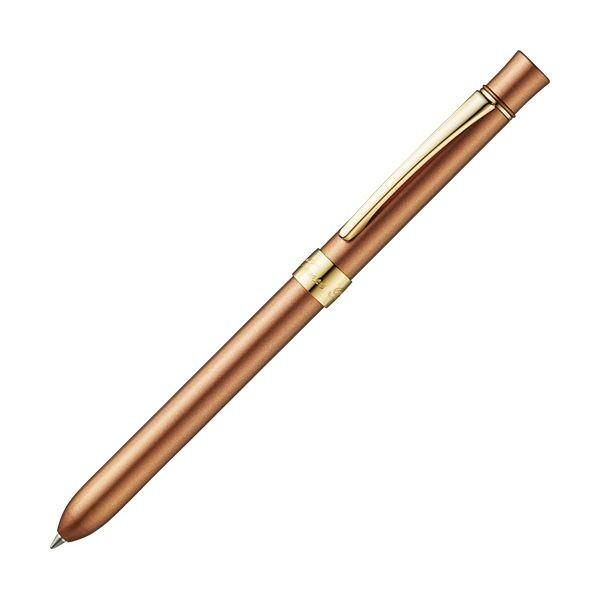 ペン・万年筆関連 (まとめ買い) 多機能筆記具3ファンクションスリムメタルf ブロンズ 1本 【×5セット】