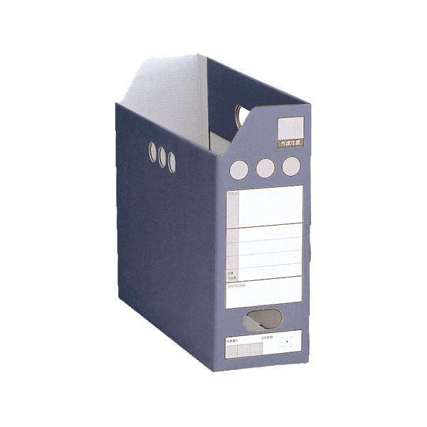 文具・オフィス用品関連 (まとめ)ペーパーシスボックス A4ヨコ背幅102mm ブルー SBF-102C-10 1枚 【×30セット】