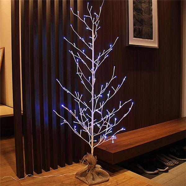 日用品雑貨・文房具・手芸 関連 クリスマスツリー LEDブランチツリー 麻布付<LEDイルミネーショ・オーナメント・デコレーション・飾り付け> 高さ120cm