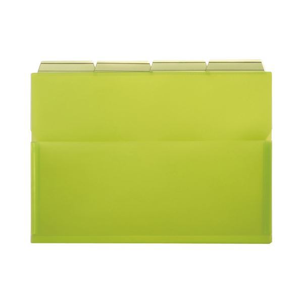 ファイル・バインダー クリアケース・クリアファイル 関連 (まとめ)PPポケットホルダー(エール) A4 グリーン マチ付 PH-42A-G 1パック(4冊) 【×10セット】