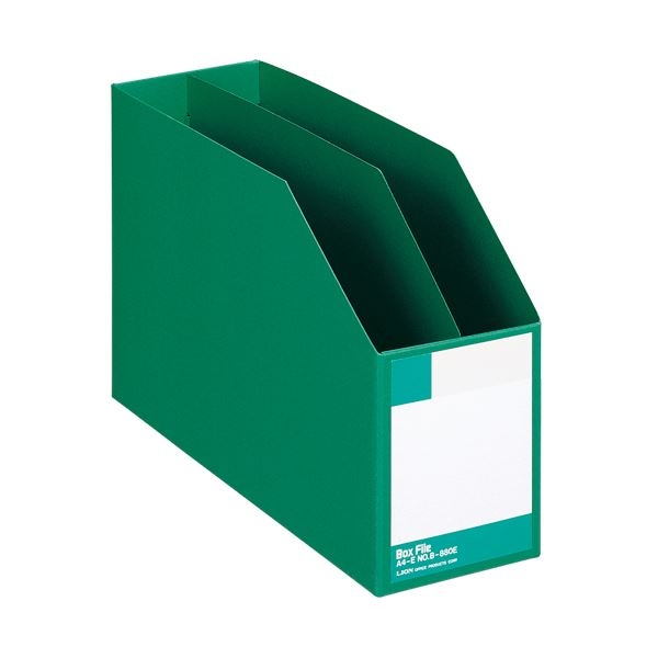 文具・オフィス用品関連 (まとめ)ボックスファイル 板紙製A4ヨコ 背幅105mm 緑 B-880E 1冊 【×5セット】