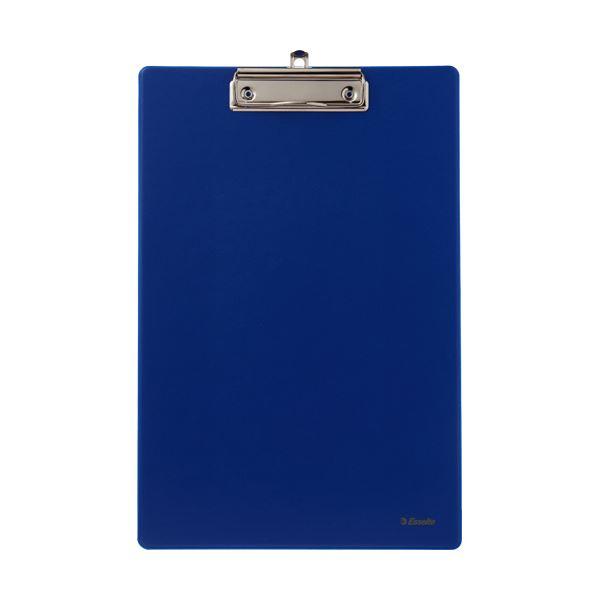 文房具・事務用品 ファイル・バインダー 関連 (まとめ)クリップボードシングルA4タテ ブルー 1枚 【×20セット】