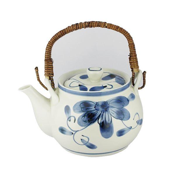 キッチン用品・食器・調理器具 関連 (まとめ)西海陶器 青い花 軽量6号土瓶【×5セット】