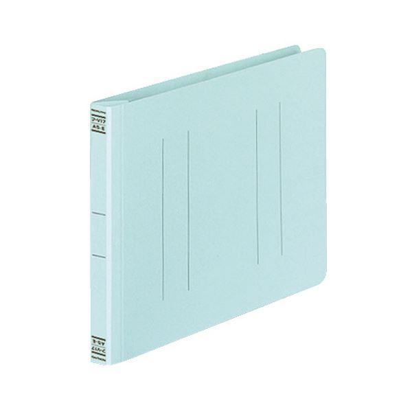 日用雑貨 (まとめ) コクヨ フラットファイルV(樹脂製とじ具) A5ヨコ 150枚収容 背幅18mm 青 フ-V17B 1パック(10冊) 【×10セット】
