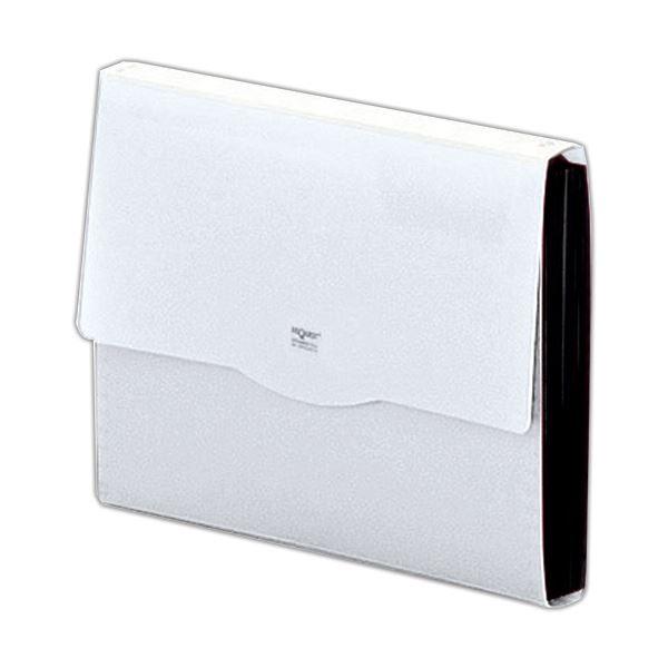 収納用品 マガジンボックス・ファイルボックス 関連 (まとめ)リクエスト不透明ドキュメントファイル A4 13ポケット 白 G5800-0 1冊 【×10セット】
