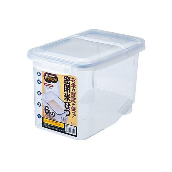 【洗顔用泡立てネット 付き】ロック&パッキンでしっかり密封米櫃 生活 雑貨 通販 (まとめ)米びつ 6Kg 密閉 (保存容器) 【24個セット】