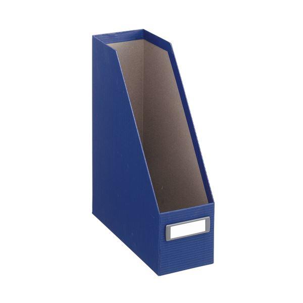 収納用品 マガジンボックス・ファイルボックス 関連 (まとめ)ボックスファイル(アコルデ) 布クロス貼り A4タテ 背幅102mm ブルー BF-33CL 1個 【×3セット】