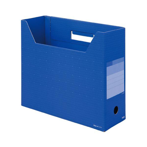 収納用品 マガジンボックス・ファイルボックス 関連 (まとめ)デジャヴカラーズシリーズボックスファイル レギュラー A4ヨコ 背幅100mm オーシャンブルー FL-023BFOB 1冊 【×20セット】