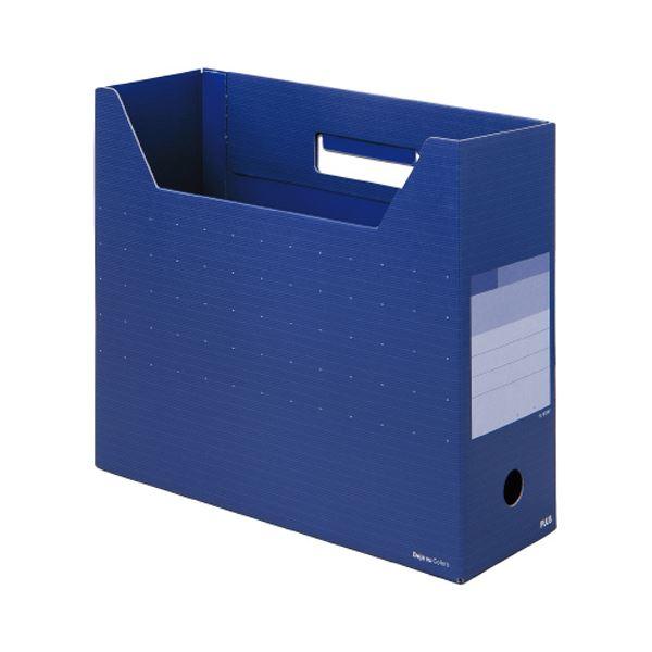 文具・オフィス用品関連 (まとめ)デジャヴカラーズシリーズボックスファイル レギュラー A4ヨコ 背幅100mm ネイビーブルー FL-023BFNB 1冊 【×20セット】