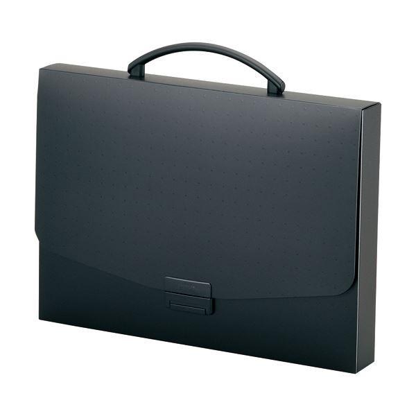 収納用品 マガジンボックス・ファイルボックス 関連 (まとめ) バッグA4 黒(不透明) A-5005-24 1個 【×5セット】