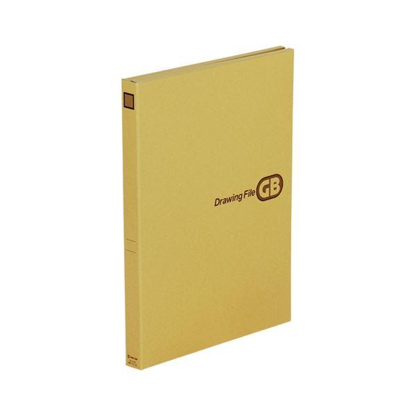 文具・オフィス用品関連 (まとめ)キングジム 図面ファイルGBクラフト表紙 A3 2つ折 背幅27mm 1143 1セット(5冊)【×3セット】