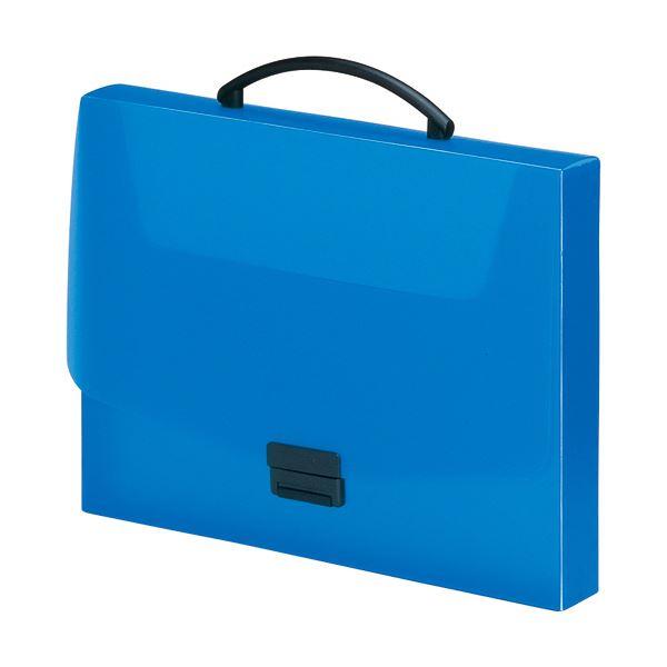 収納用品 マガジンボックス・ファイルボックス 関連 (まとめ) バッグA4 青 A-5005-8 1個 【×5セット】