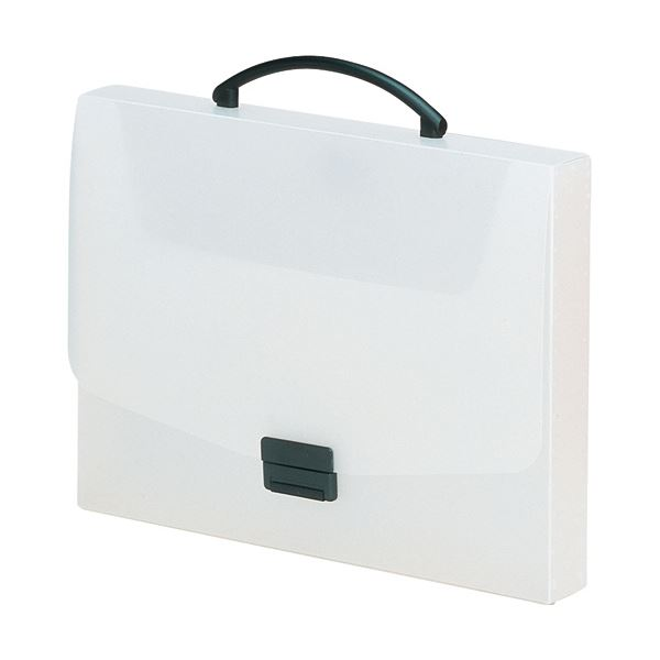 収納用品 マガジンボックス・ファイルボックス 関連 (まとめ) バッグA4 乳白 A-5005-1 1個 【×5セット】