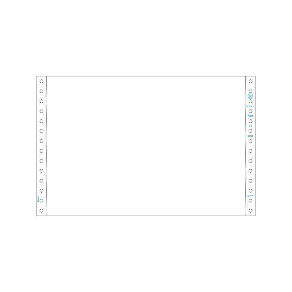 伝票関連 ストックフォーム 11×7インチ2P 白紙 GB373 1箱(250セット)