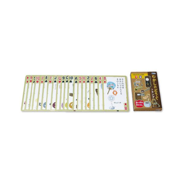 生活 雑貨 通販 (まとめ)むかしのどうぐかるた&トランプ NH6015【×5セット】