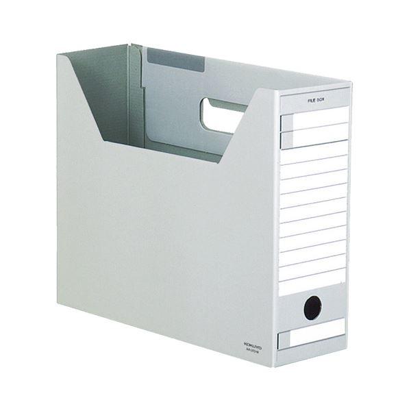 ケース・フォルダー・ボックス ボックスファイル (まとめ) コクヨ ファイルボックス-FS(Dタイプ) A4ヨコ 背幅102mm グレー A4-LFD-M 1セット(5冊) 【×10セット】