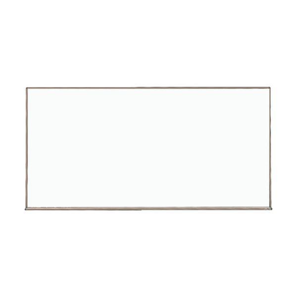 スチール製ホワイトボード450×600 板面:白 枠色:ブロンズ WGH-132S-BL 1枚