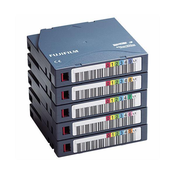 パソコン・周辺機器 関連 Ultrium3データカートリッジ バーコードラベル(横型)付 400GB FB UL-3 OREDPX5Y1パック(5巻)