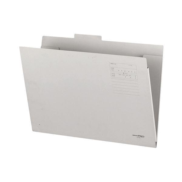 文房具・事務用品 製図用品 図面ケース 関連 (まとめ買い)図面個別フォルダー A3 2つ折グレー セ-FF8M 1セット(10冊)【×2セット】