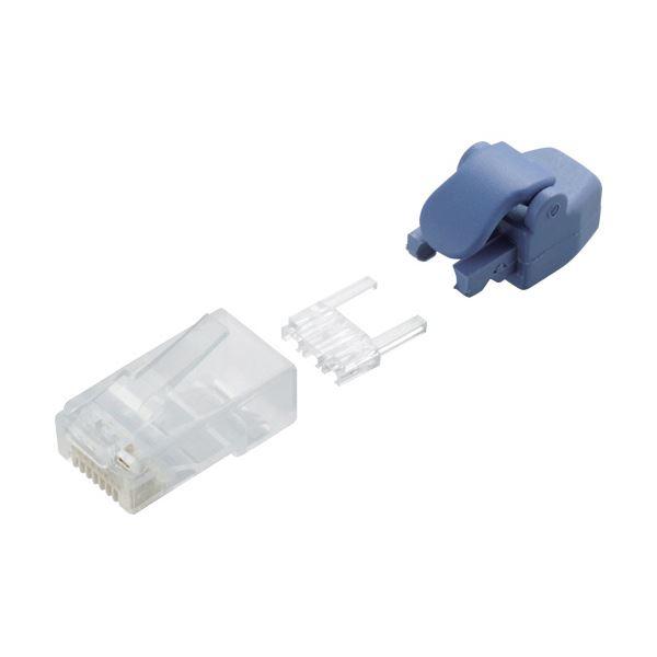 パソコン・周辺機器 ネットワーク機器 関連 (まとめ買い)RJ45コネクタ(Cat6単線ヨリ線共通) LD-6RJ45T10/TP 1パック(10個)【×3セット】