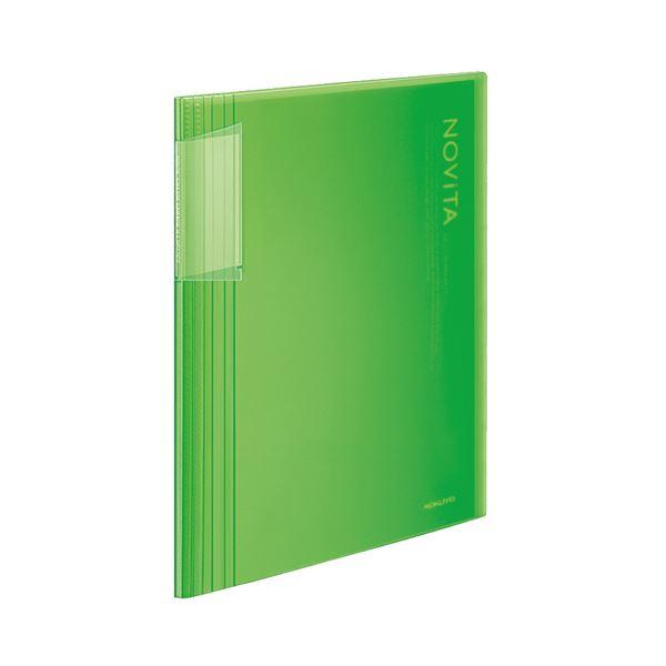 ファイル・バインダー クリアケース・クリアファイル 関連 (まとめ)クリヤーブック(ノビータ)固定式 A4タテ 40ポケット 背幅8~50mm ライトグリーン ラ-N40LG 1冊 【×10セット】