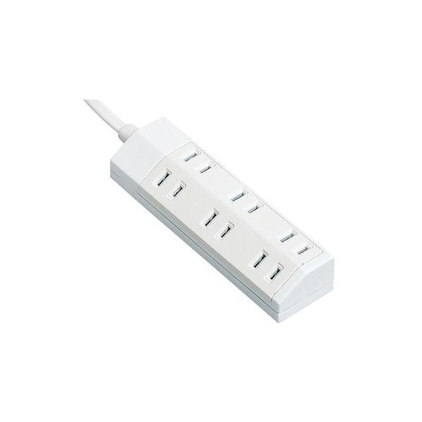 パソコン・周辺機器 PCアクセサリー 電源タップ 関連 (まとめ買い)ザ・タップマルチ2P・6個口 ホワイト 1.0m WHA2916WKP 1個【×5セット】