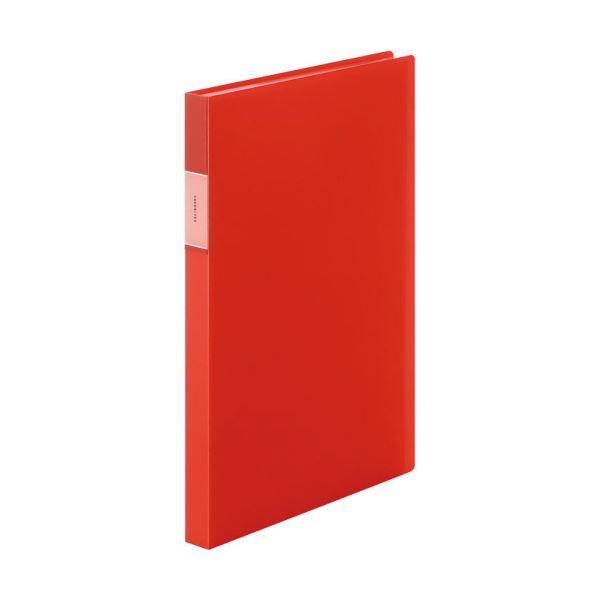 ファイル・バインダー クリアケース・クリアファイル 関連 (まとめ)クリアーファイル(透明) A4タテ 40ポケット 背幅24mm オレンジ FV166TWオレ 1冊 【×10セット】