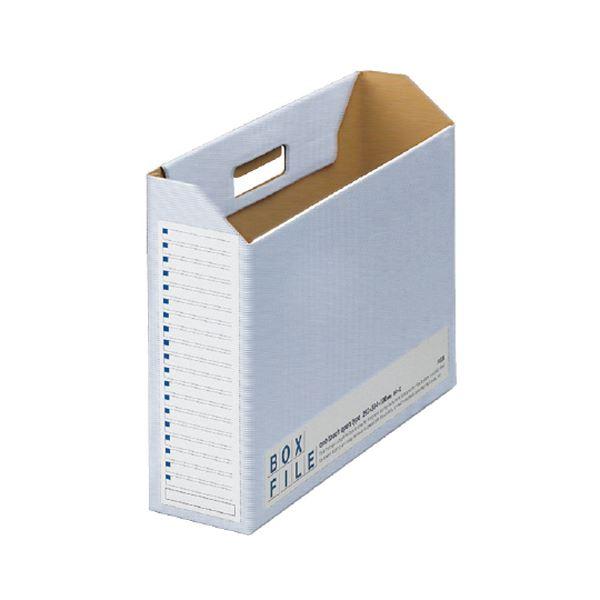 文具・オフィス用品関連 (まとめ)ボックスファイルエコノミータイプ B4ヨコ 背幅100mm ブルー FL-098BF 1パック(5冊) 【×5セット】