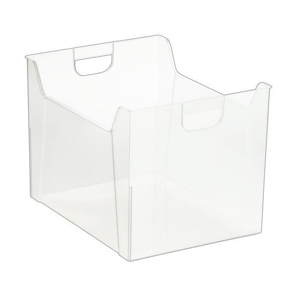 収納用品 マガジンボックス・ファイルボックス 関連 (まとめ)ファイルボックス A4クリア FB-E05-CR 1個 【×10セット】