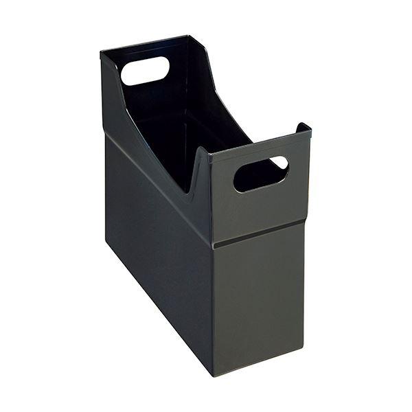 文具・オフィス用品関連 (まとめ)フリーボックス PP製A4ヨコ 背幅127mm ブラック CS-110P 1個 【×10セット】