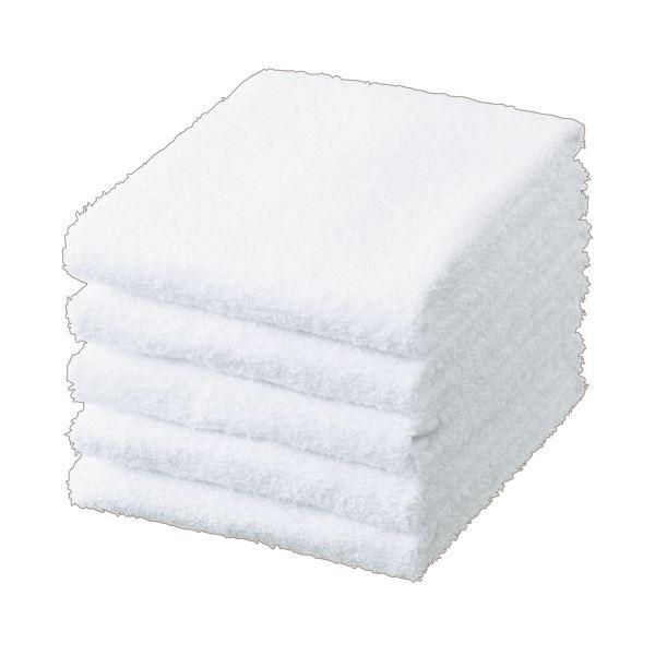 生活 雑貨 通販 (まとめ) TANOSEE フェイスタオル ホワイト 1パック(5枚) 【×30セット】