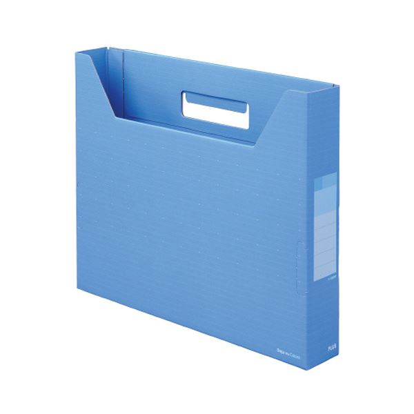 文具・オフィス用品関連 (まとめ)デジャヴカラーズシリーズボックスファイル スリム A4ヨコ 背幅50mm スカイブルー FL-022BFSB 1冊 【×30セット】