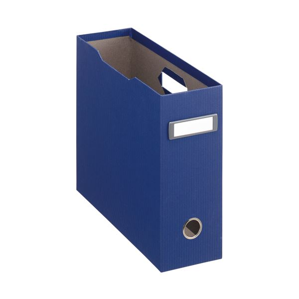 収納用品 マガジンボックス・ファイルボックス 関連 (まとめ)ボックスファイル(アコルデ) 布クロス貼り A4ヨコ 背幅102mm ブルー BF-32CL 1個 【×3セット】