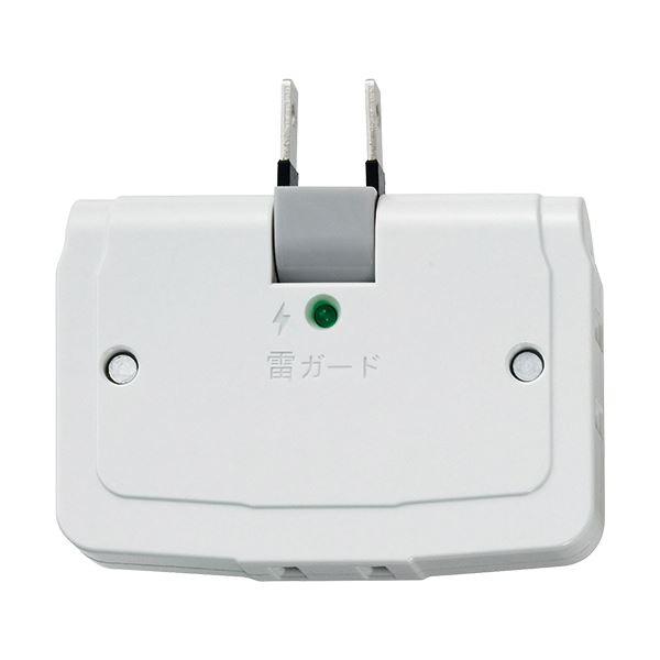 パソコン・周辺機器 PCアクセサリー 電源タップ 関連 (まとめ買い)耐雷サージ コーナータップA-360SB(W) 1個【×10セット】