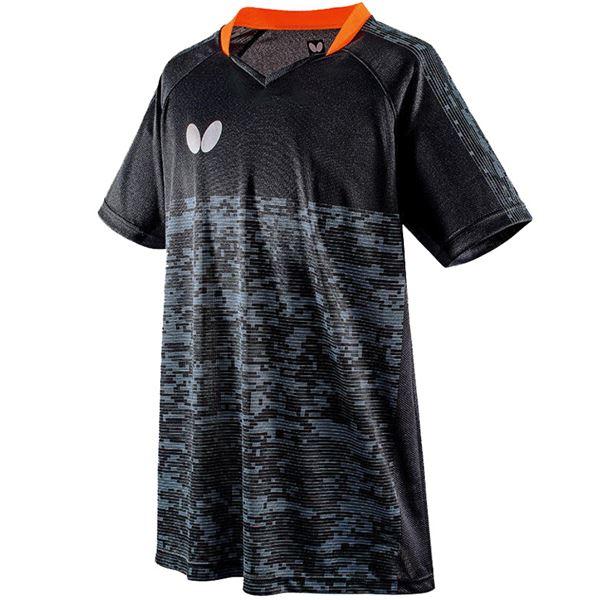 スポーツ用品・スポーツウェア 卓球用品 関連 卓球アパレル ELCREST SHIRT(エルクレスト・シャツ) 男女兼用 45440 ブラック XO
