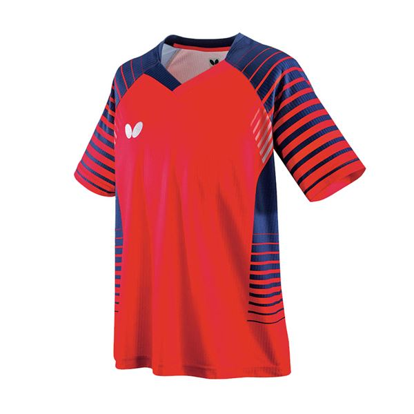 スポーツ用品・スポーツウェア 卓球用品 関連 卓球アパレル NEOLD SHIRT(ネオルド・シャツ) 男女兼用/ジュニア対応 45450 レッド 150