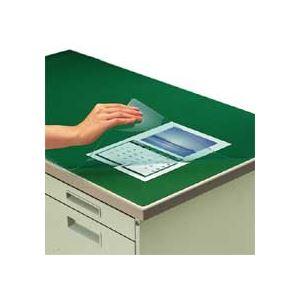 文具・オフィス用品関連 デスクマット軟質(非転写)ダブル(下敷付) 1587×687mm グリーン マ-467NG 1枚