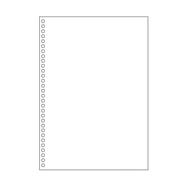 文房具・事務用品 紙製品・封筒 伝票 関連 マルチプリンタ帳票(FSC森林認証紙) A4白紙 30穴 1セット(1000枚:500枚×2箱)