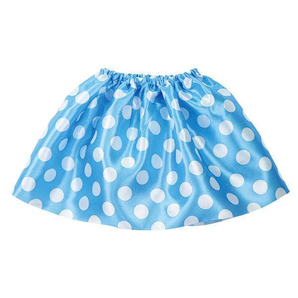 生活 雑貨 通販 (まとめ)水玉ソフトサテンスカート 水色 【×10個セット】
