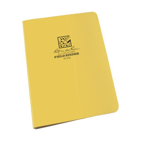 文房具・事務用品 紙製品・封筒 関連 (まとめ) リングバインダー1/2キャパシティー イエロー 200 1個 【×3セット】