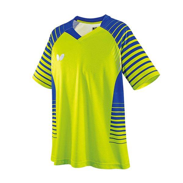 スポーツ用品・スポーツウェア 卓球用品 関連 卓球アパレル NEOLD SHIRT(ネオルド・シャツ) 男女兼用/ジュニア対応 45450 ライム XO