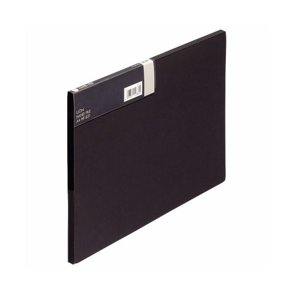 収納用品 マガジンボックス・ファイルボックス 関連 (まとめ)ハンドファイル A4背幅10mm 黒 HF-851 1冊 【×10セット】