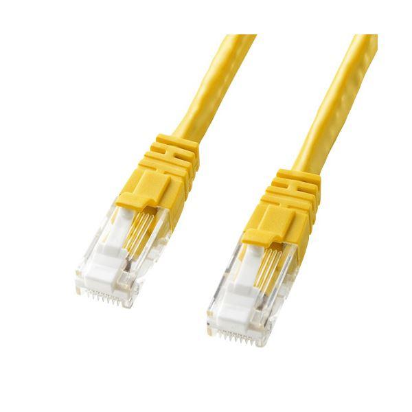 パソコン・周辺機器 PCアクセサリー ケーブル LANケーブル 関連 (まとめ買い)つめ折れ防止カテゴリ6LANケーブル イエロー 7m KB-T6TS-07Y 1本【×3セット】